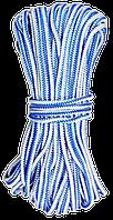 Шнур полипропиленовый d 6мм, 20м вязаный (Украина)