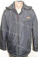 Демисезонная мужская куртка с капюшоном черная