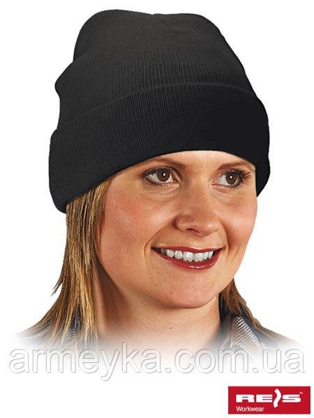 Зимняя акриловая шапка, черная. Reis Польша.