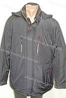 Демисезонная мужская куртка с капюшоном батал черная
