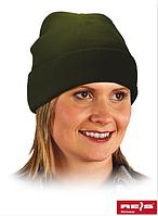 Зимняя акриловая шапка, олива. Reis Польша.