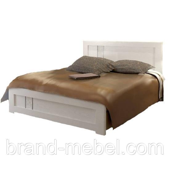 Кровать Зоряна скол дуба белый