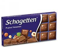 Шоколад Schogetten Praline Noisettes 100 г Шоггетен со вкусом пралине, нугой