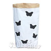 Бумажный пакет мешок для хранения Бабочки  50*68