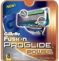 Картриджи GILLETTE  Fusion Power Proglade(8шт) оригинал