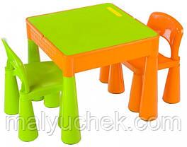 Столик и два стульчика Tega Mamut. Цвет: салатовый с оранжевым