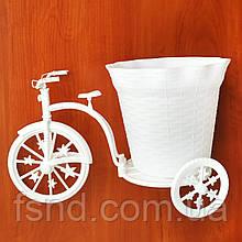 Декоративный пластмассовый велосипед для цветов (Б) 18х32 см