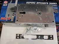 Врезной замок Kale 352W/B для металлических дверей, никель с тягоми