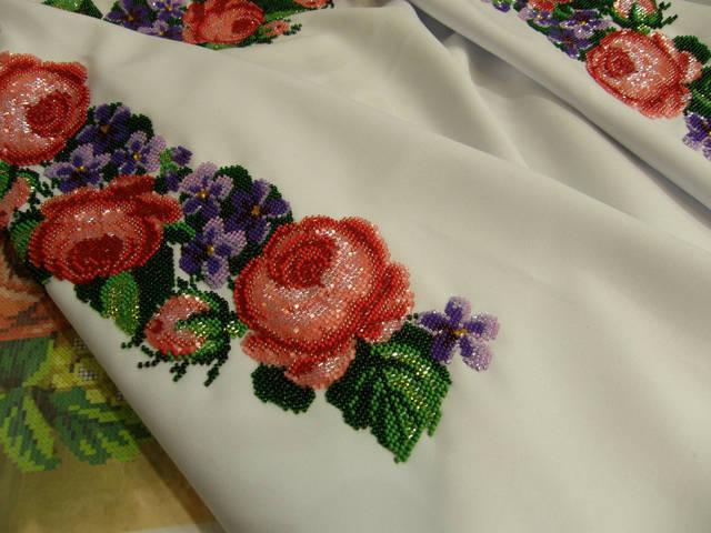 Заготовка жіночої сорочки вишита бісером в портфолио компании ... aa1c4b4187fad