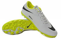 Футбольные сороконожки Nike HyperVenom Phelon TF White/Yellow/Black, фото 1