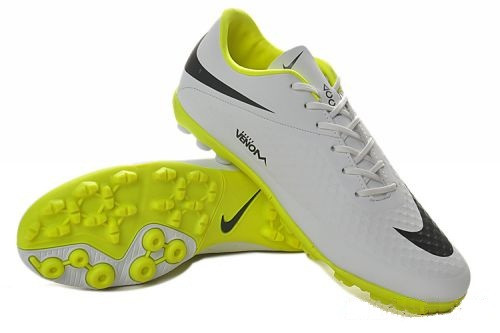 Футбольные сороконожки Nike HyperVenom Phelon TF White/Yellow/Black