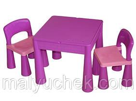 Столик и два стульчика Tega Mamut. Цвет: фиолетовый