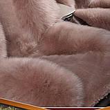 Шкура в машину на автокресло светолокоричневая накидка, фото 3