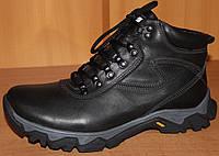 Мужские спортивные ботинки зимние на шнурках, кожаные зимние ботинки мужские от производителя модель СБ56