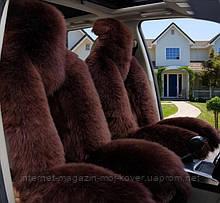 Темно коричневий высокачетвенный універсальний чохол накидка на машину