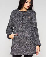 Утепленное женское пальто на кнопках (Кира зима leo)