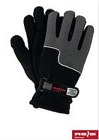 Зимние перчатки Polartec 100, черные с серым. Reis Польша.