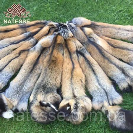 Шкуры мех лисы Кросс Фокс длиной 85-90 см