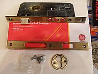 Врезной замок Siba 10152-3MR-45 mm для деревянных и металлических дверей, AB, хром, латунь