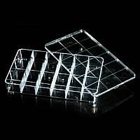 Пластиковый бокс - контейнер с крышкой на 18 секций