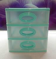 Мини комод  на 3 ящика зеленый, фото 1
