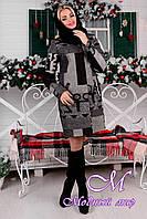 Женское зимнее теплое пальто с хомутом р. (S-L) арт. Фортуна лайт шерсть принт хомут зима 8061