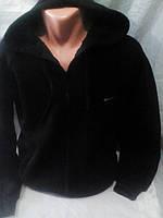Мужская черная теплая кофта на змейке 46-52 рр