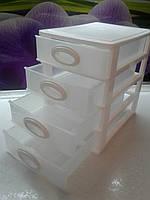 Мини комод на 4 ящика белый