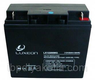 Спецификация аккумулятора Luxeon 12V, 20АЧ (модель LX12-20MG)