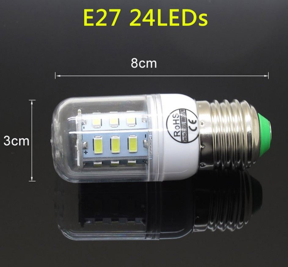 Лампа Epistar E27 кукуруза 9W  24 led