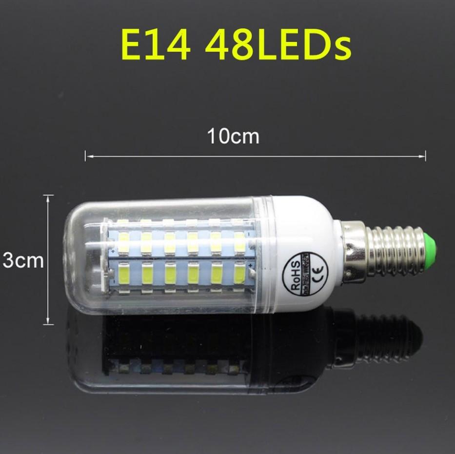 Лампа Epistar E14 кукуруза 15W  48 led