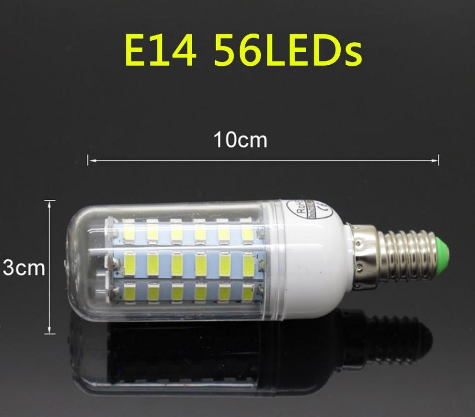 Лампа Epistar E14 кукуруза 20W  56 led