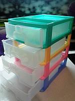Мини комод  разноцветный на 4 яруса , фото 1