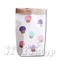 Бумажный пакет мешок для хранения Кактус 50*68