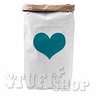 Бумажный пакет мешок для хранения Крафт сердечко 50*68