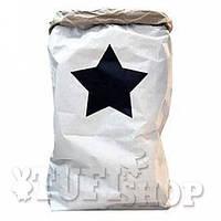 Бумажный пакет мешок для хранения Черная звездочка 50*68