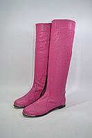 Высокие кожаные сапоги облегченный вариант, размер 37