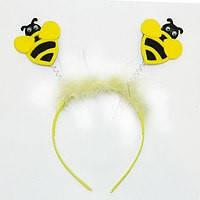 Ободок пчелки с мехом.