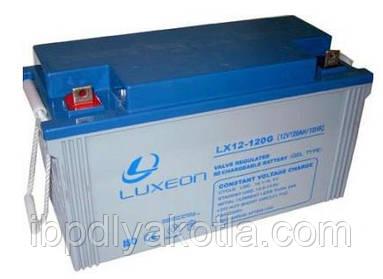 Спецификация гелевого аккумулятора Luxeon 12V, 120АЧ (модель LX12-120G)