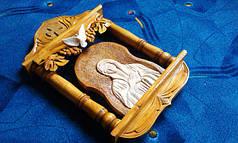 Икона резная в киоте ручной работы, фото 3