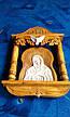 Икона резная в киоте ручной работы, фото 4