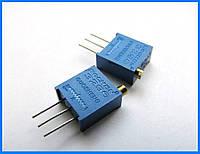Резистор подстроечный многооборотный, 5 кОм.