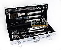 Набор инструментов для барбекю из нержавеющей стали в чемодане (12 пр./наб.) Fissman (BQ-1015.12)