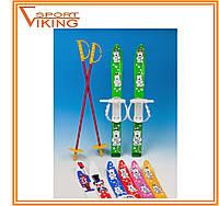 Лыжи с палками Marmat детские пластиковые 70 см (4 цв)