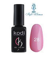 Kodi professional гель лак Коди 28 розовый эмаль классика 8мл