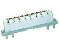 Плинт переключения HighBand 16х2 с нормально разомкнутыми контактами (6468 5 080-00) Cat.5e, универс.крепление, фото 1