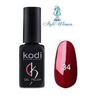 Kodi professional гель лак Коди 34 бордовый эмаль 8мл