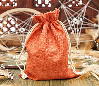 Мешочек из джута Оранжевый