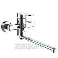 Смеситель для ванны длинный гусак, Z65-LOB7 ZEGOR (TROYA)