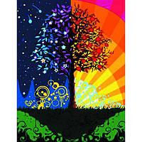 """Картина по номерам """"Дерево счастья"""" в коробке"""